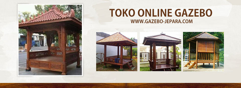 Gazebo Jepara | Gazebo Kayu Kelapa | Saung Gazebo