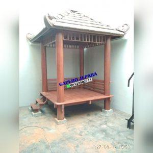 gazebo kayu kelapa atap genting