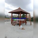 Gazebo atap sirap ukuran kayu kelapa