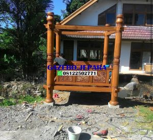 Gazebo kayu jati 300x275 - Gazebo kayu jati