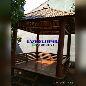 Gazebo kayu kelapa 300x300 - Gazebo kayu kelapa murah