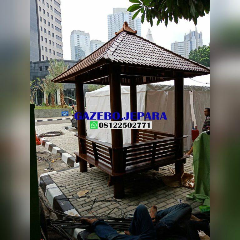Gazebo kayu kelapa ukuran 2x2