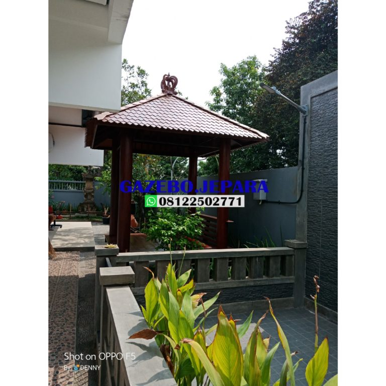 Saung gazebo bali kayu kelapa