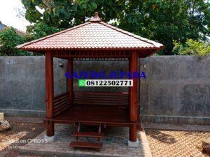 Saung taman minimalis