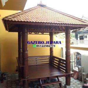 saung gazebo kayu glugu kelapa