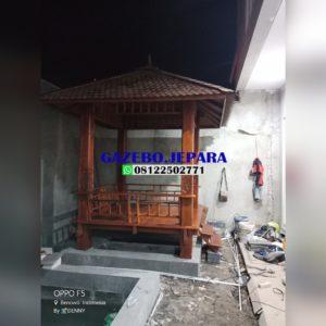 gazebo kayu kelapa ukir terbaru