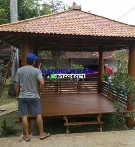 gazebo jepara atap kayu