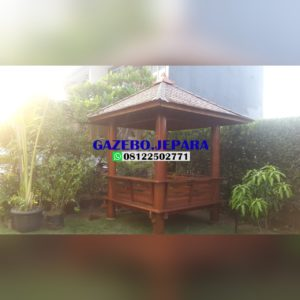gazebo natural kayu