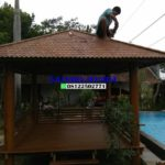 saung gazebo atap kayu