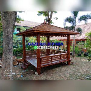 saung gazebo model minimalis