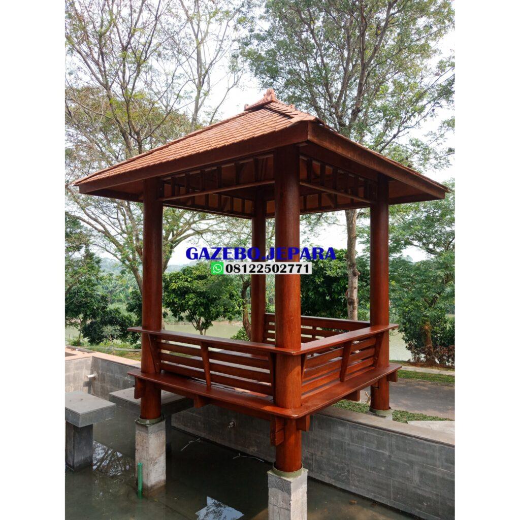 Gazebo atap sirap ukuran 2x2 1024x1024 - gazebo atap sirap ukuran 2x2