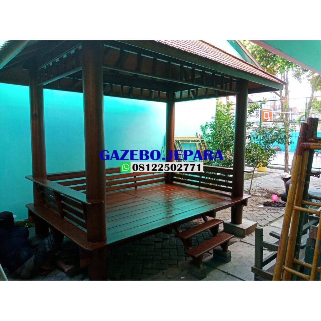 Gazebo taman kayu kelapa ukuran 3x2