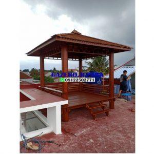 Gazebo murah kayu kelapa paling laku GJ 013